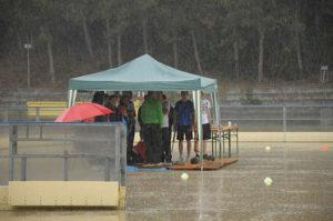 Biathlon, Regen, Zelt